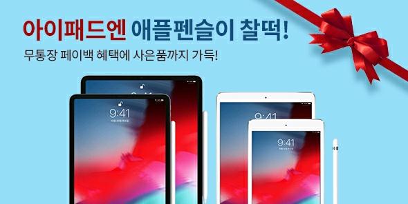 아이패드+애플펜슬 특별팩 & 아이패드 10.2형 7세대 신규런칭